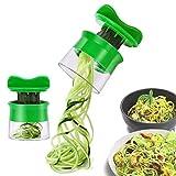 Risseen Spiralschneider Hand für Gemüsespaghetti, Gemüse Spiralschneider für Karotte, Gurke, Kartoffel, Kürbis, Zucchini