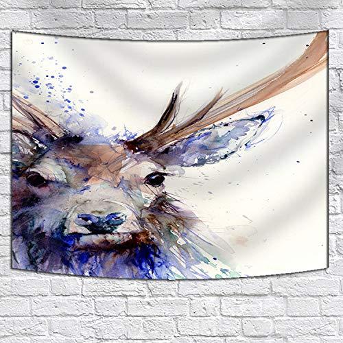 jtxqe Couverture de Tapisserie Murale/Serviette de Plage d'impression de Peinture d'encre numérique 12 150X130