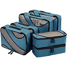 Eono Essentials 6 Set Packing Cubes,3 Various Sizes Travel Luggage Packing Organizers