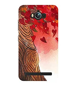 Chiraiyaa Designer Printed Premium Back Cover Case for Asus Zenfone Max (tree leaves background) (Multicolor)