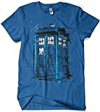 308-Camiseta Doctor Who - Time And Space (Dr.Monekers) (Royal L)