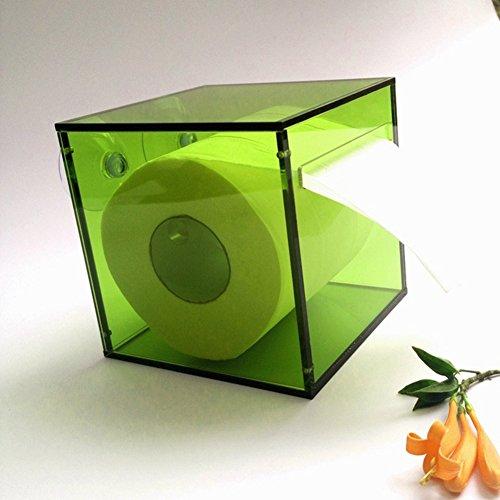 Kunststoff saugnapf rollenhalter,Wand halterung frei stehende einfache wasserdichte küche wc bad gewebe box toilettenpapierhalter-C 12.6x12.6x12cm(5x5x5inch) -