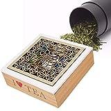 Contenitore Stoccaggio Scatola di immagazzinaggio del tè di legno vuota, scatola dell'organizzatore della bustina di tè del petto dell'organizzatore di immagazzinaggio del tè in legno naturale con 9 s