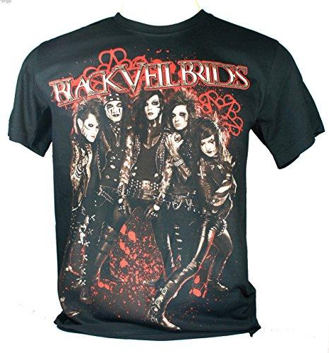 Black Veil Brides-Maglietta da uomo nero set The World On Fire Large Size L