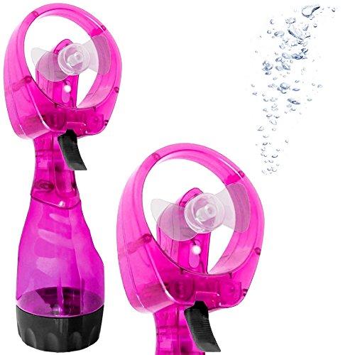 Promobo - nebulizzatore, ventilatore tascabile, 2 in 1, elettrico, rinfrescante, rosa