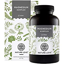 Magnesium Komplex - 400mg elementares Magnesium je Tagesdosis. Mit Tri-Magnesium Dicitrat, Magnesiumoxid, Magnesiumbisglycinat, Magnesiummalat, Magnesiumscorbat. Vegan, hochdosiert, Made in Germany