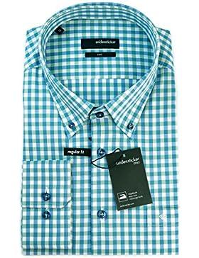 Seidensticker Herren Langarm Hemd UNO Regular Fit Button-Down-Kragen BD mehrfarbig kariert 131452.75