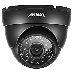 SANNCE 800TVL Hi-Resolution Home Security Camera System, IP66 Weatherproof Video Surveillance Camera, Long Distance Night Vision, Vandal & WeatherProof Dome Camera