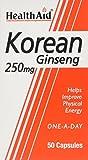 HealthAid Korean Ginseng 250mg - 50 Capsules by HealthAid