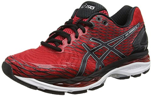 Asics Gel Nimbus 18 - Zapatillas de Running, Unisex, Rojo (Racing Red/