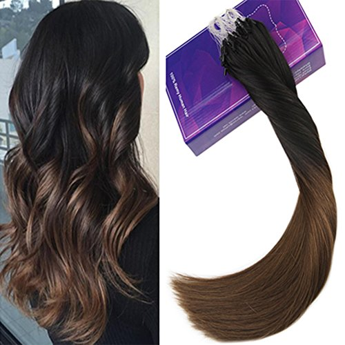 LaaVoo 35cm Ombre Beads Hair Extensions Pelo Baratas
