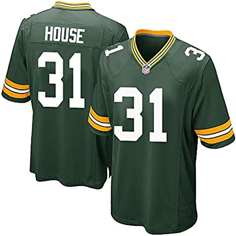 Men's Green Bay Packers #31 HOUSE Jersey American Football Maglia