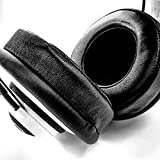 Brainwavz XL Large Replacement Memory Foam Earpads - Suitable For Many Other Large Over The Ear Headphones - Sennheiser, AKG, HifiMan, ATH, Philips, Fostex, Sony (Genuine Leather)