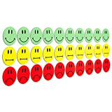 30 bunte Smiley Magnete