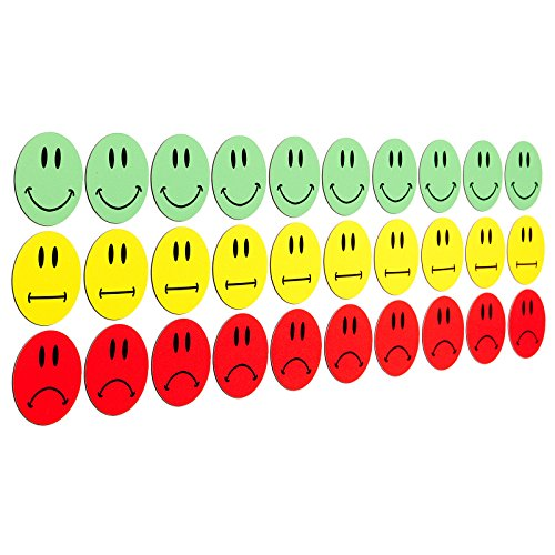 30-multicolor-smiley-imanes-10-verdes-smileys-sonriendo-10-amarillas-neutral-smileys-10-rojos-terrib