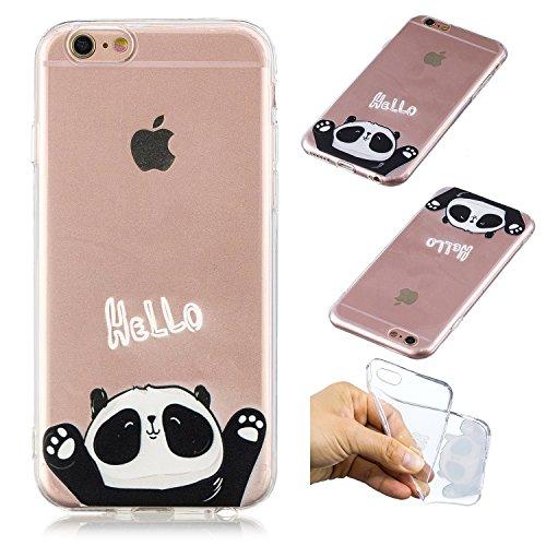 HopMore Cover iPhone 6S iPhone 6 Panda 6 Silicone Morbida Panda e