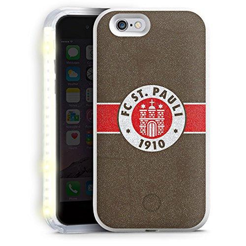Preisvergleich Produktbild Apple iPhone 6 FlashMe Case LED Hülle Light Up Handyhülle Selfie Licht Hülle FC St. Pauli Fanartikel Fußball