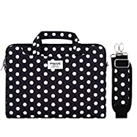 MOSISO Canvas Laptop Shoulder Bag Briefcase Sleeve with Back Trolly Belt