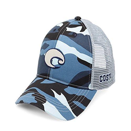 Costa Del Mar Mütze Costa Camo Logo Blau