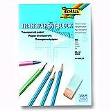 NEU Transparentpapierblock. 80 g. DIN A4. 25 Bl.