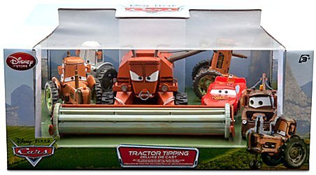 Disney Pixar CARS Movie Exclusive 6-Piece 1:48 Scale Die Cast Set Tractor Tipping [Includes Frank the Combine] (Disney Cars Frank-set)