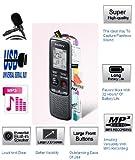 Sony ICDPX240 (ICDPX240M) MP3 digitale Diktiergeräte (IC Recorder) Maschine/Aufnahmegerät mit PC über USB LINK - 4 GB integrierter Speicher (bis zu 1043 Hours lange Akkulaufzeit) - einfache Bedienung (gleichen Familie wie ICD-PX333 und ICDPX333M) - integrierte Lautsprecher - Externes Mikrofon mit hochwertigem mit Ständer
