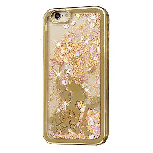 per-iPhone-6-Plus-55-Placcatura-Opaco-plating-Oro-Bumper-casoHerzzer-moda-3D-Plastica-Scintillio-Bling-Diamond-Caramelle-colorate-ViolaDynamic-Liquido-Glitter-Brillanti-Colorato-Sabbie-protettiva-in-p