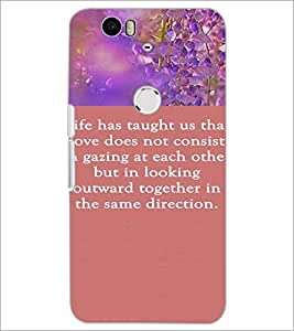 PrintDhaba Quote D-4213 Back Case Cover for HUAWEI NEXUS 6P (Multi-Coloured)