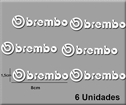 Ecoshirt IM-XXSU-GO99 Aufkleber Stickers Brembo R47 Aufkleber Decals Autocollants Adesivi, weiß
