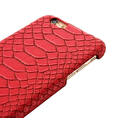 Phone case & Hülle Für IPhone 6 / 6s, Snakeskin Texture Hard Back Cover Schutzmaßnahmen zurück Fall ( Color : Beige ) Red