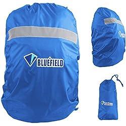 Triwonder Cubierta impermeable de la lluvia de la mochila del almacenamiento 15L a 80L con la tira reflectora para caminar el acampar que viaja (Azul, S (15L-35L))