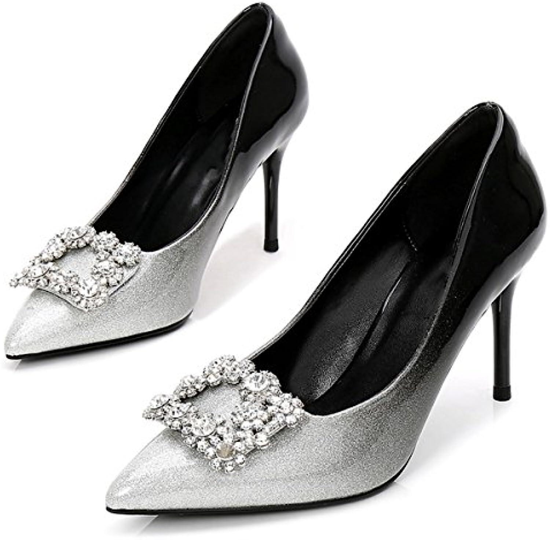 75cda0a7b37573 DIMAOL Chaussures pour Femmes en Cuir Cuir Cuir de Brevet de Base pour  Pompes Printemps Automne Talons Talon Chaussures...B07B2ZW3D5Parent | De  Fin D'année ...