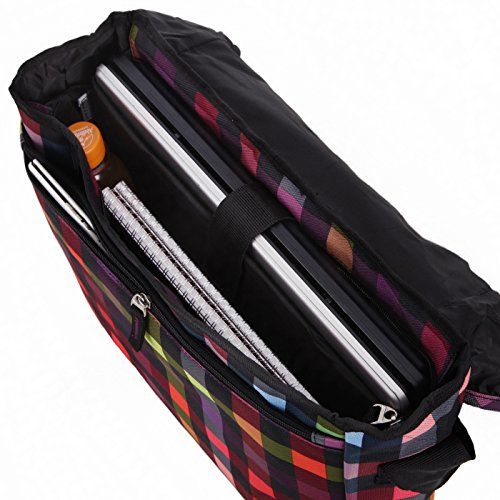 Rada Umhängetasche CT/2/L Laptoptasche in verschiedenen Farben (schwarz) multicolor check
