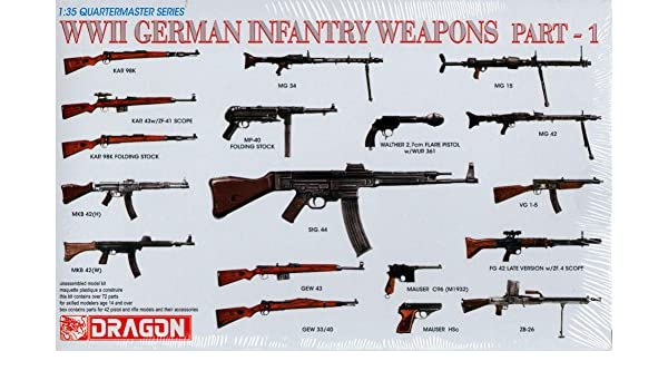 WWII German Infantry Weapons Part-1 - 1:35 Scale: Amazon co uk: Toys