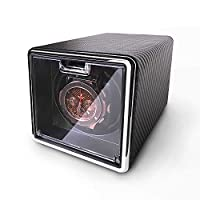 POUILLA Fibre textured PU leather Automatic Single Watch Winder Black SE0171