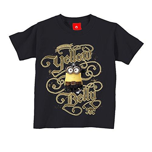 King of Merch - Kinder T-Shirt - Minions Pirat The Original Yellow Belly Matie Kevin Phil Scarlet Overkill Herb Bob Stuart Gru Flux Margo Edith Vector Einauge Banana Minion Schwarz (Shirts T Mädchen Piraten Für)