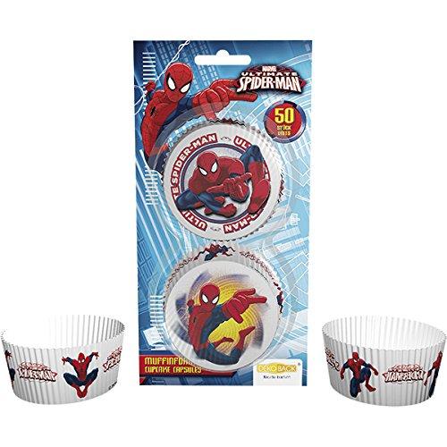 DEKOBACK 01-14-00786 Muffinförmchen Spiderman, 50 (Man Alle Farben Spider)