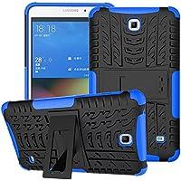 Funda para Samsung Galaxy Tab 4 7.0,XITODA Hybrid TPU silicone & Duro PC Protección Cover para Samsung Galaxy Tab 4 7.0 pulgadas SM-T230/T231/T235 Tablet Case Funda con Kickstand / Stand - Azul oscuro