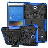 XITODA Hülle für Samsung Galaxy Tab 4 7.0, Hybrid TPU Silikon & Schwer PC Cover Schutzhülle für Samsung Galaxy Tab 4 7.0 SM-T230/T231/T235 Tablet Case Hülle mit Kickstand/Stand - Dunkelblau