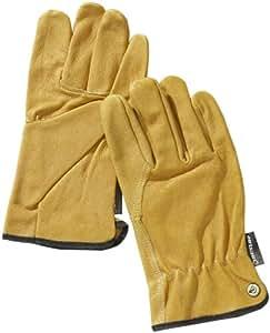 Dunlop 360111 Profi Fahrerhandschuh Leder, gelb, Cat 2 zertifiziert EN 388/ 3021