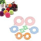Outtybrave Pompom Makers Weaver Nadeln Basteln DIY Wolle Stricken Handwerk Plüsch Spielzeug Dekoration Werkzeug für Flusenball