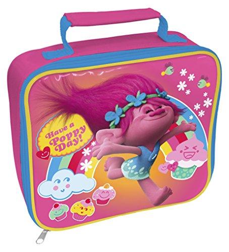 TROLLS Trols Cupcake rectangular bolsa para almuerzo, color rosa
