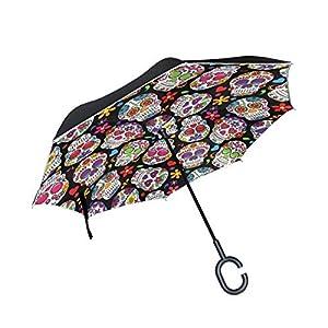 MNSRUU Paraguas invertido/reversible, diseño de