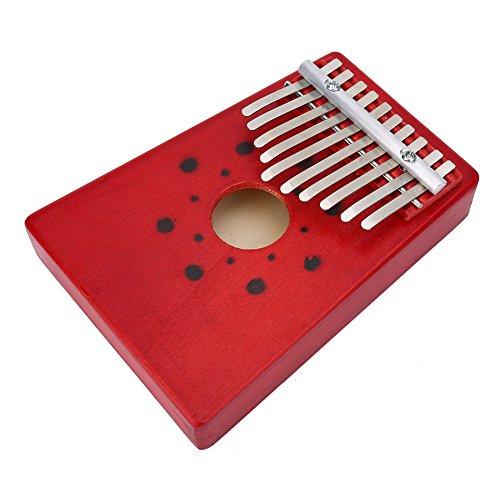 Daumen Klavier, 10 Tasten Kalimba Daumen Klavier Kinder Finger Klavier für Anfänger Kinder (Rot)