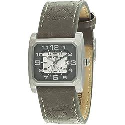 RG512 g 50392-604-Kinder-Armbanduhr Dianna Quarz analog Leder grau, grau