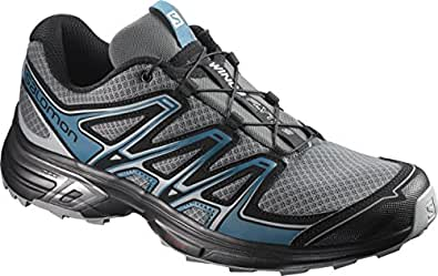 Salomon Wings Flyte 2, Chaussures de Trail Homme, Gris (Quiet Shade/Black/Mallard Blue), 40 EU