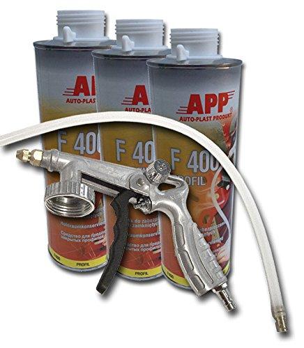 Preisvergleich Produktbild 3Liter Hohlraumversiegelung inkl. Pistole und Hohlraumsonde für Hohlraumkonservierung