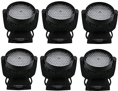 Eshine 6pcs/lot LED RGBW 108x3w Wash Moving Head Light Stage Lighting Pour Anniversaire DJ Disco KTV Bar Party événement de Noël Wedding