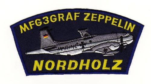Aufnäher Bügelbild Aufbügler Iron on Patches Applikation MFG 3 Graf zeppelin Nordholz Abzeichen Armee Flugzeug (Auto Abzeichen Armee)