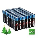 ANSMANN Lichterkette Batterie AAA Micro (48 Stück) Batterien für Weihnachtsbeleuchtung und LED Kerzen - Alkaline Einwegbatterie